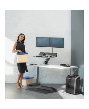 Fellowes LOTUS RT SIT STAND WORKSTATION BLACK DUAL