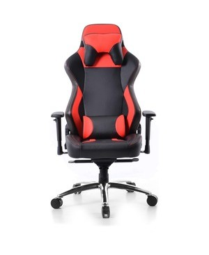 Battery Technology Inc. ELITE GAMING CHAIR RED/BLACK PREMIUM PU LEATHER GC-008R1