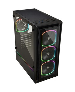 Lepatek Corporation ENERMAX STARRYFORT SF30 GAMING CASE 4X PRE-INSTALLED SQUA RGB FAN