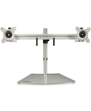 Startech.Com DUAL MNTR STAND HORIZONTAL FOR UP TO 24IN MNTR SILVER