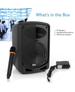 Pyle PSBT65A Portable Bluetooth Speaker System - Stand Mountable - 55 Hz to 20 kHz - Battery Rechargeable - USB SPKR