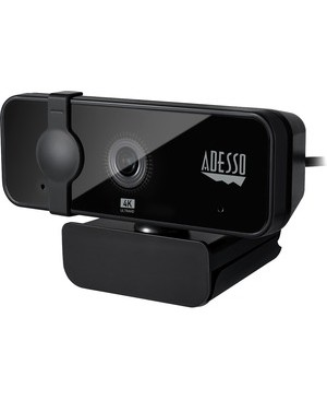 Adesso CyberTrack CYBERTRACK H6 Webcam - 8 Megapixel - 30 fps - USB 3.0 - 3840 x 2160 Video - CMOS Sensor - Fixed Focus - Microphone - Computer, Smart TV, Notebook BUILT-IN MIC & PRIVACY COVER