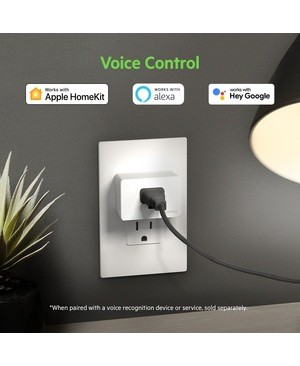 Linksys Wemo WiFi Smart Plug - AC Power Female, AC Power Male - 120 V AC / 15 A - Apple HomeKit, Alexa, Google Assistant Supported 07-SLEEVE PACKAGING