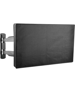 """Tripp Lite Weatherproof Outdoor TV Cover for 80"""" Flat-Panel Televisions and Monitors - Supports TV, Monitor, Flat Panel Display, Outdoor - Weather Proof, Sunlight Resistant, Water Resistant, Wind Resistant, Scratch Resistant, Dent Resistant, Dust Resistant, Zippered, Easy to Clean, Accessory Pocket, Remote Control Pocket, ... - Polyester - Black FOR 80IN TVS AND MONITORS"""