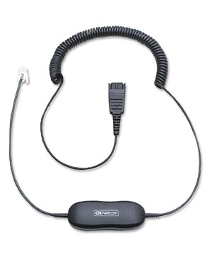 Gn Netcom GN1200 SMARTCORD 6FT COIL CORD HEADSET DIRECT CONNECT PHONE CORD