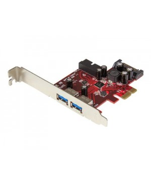 StarTech.com 4-port PCI Express USB 3.0 card - 2 external, 2 internal - SATA power - USB adapter
