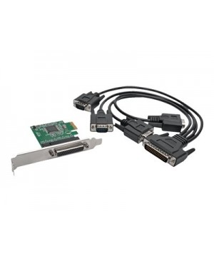 Tripp Lite 4-Port DB9 (RS-232) Serial PCI Express (PCIe) Card with Breakout Cable - serial adapter