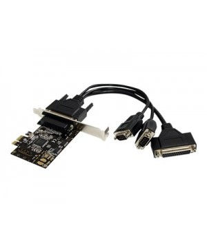 StarTech.com 2S1P PCI Express Serial Parallel Combo Card with Breakout Cable - parallel/serial adapter - 2 ports