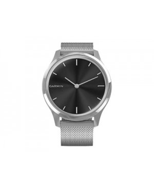 Garmin vívomove Luxe - silver stainless steel - smart watch with milanese band - silver