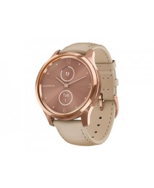 Garmin vívomove Luxe - 18K rose gold PVD stainless steel - smart watch with band - light sand
