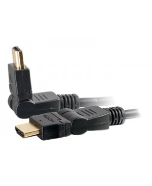 C2G 3ft High Speed HDMI Cable with Rotating Connectors for 4k Devices - HDMI cable - HDMI / audio - 3 ft