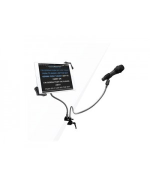 CTA Microphone Clip and Tablet Holder Gooseneck Clamp Stand - mounting kit