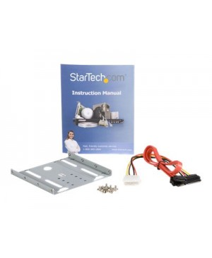 StarTech.com 2.5in Hard Drive to 3.5in Drive Bay Mounting Kit - storage bay adapter