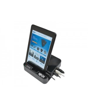 Tripp Lite 4-Port USB Charging Station Surge 2 Outlet Ipad Tablet Stand - surge protector - 1560 Watt