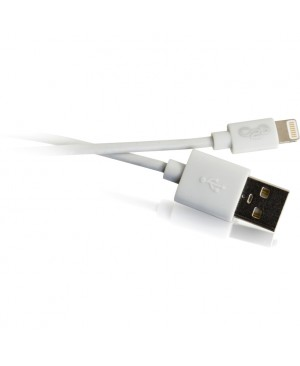 C2G 1m USB A to Lightning Cable - Charging Cable - iPhone Cable - 3ft White