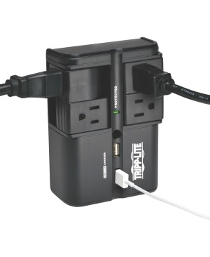 Tripp Lite Surge 4 Outlet 3.4A USB Charger Tablet Smartphone Ipad Iphone