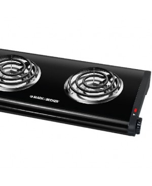 Black & Decker Double Burner Portable Buffet Range