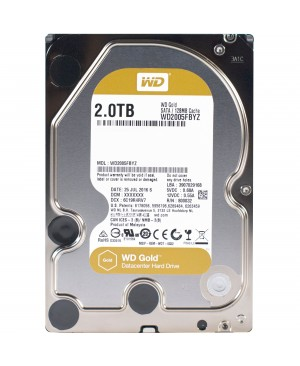 "WD Gold WD2005FBYZ 2 TB Hard Drive - 3.5"" Internal - SATA (SATA/600)"