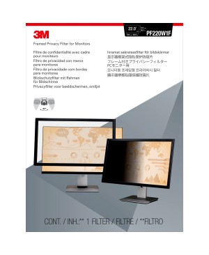 """3M™ Framed Privacy Filter for 22"""" Widescreen Monitor (16:10)"""