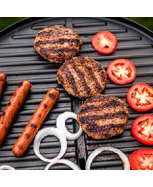George Foreman Indoor|Outdoor 15+ Serving Domed Electric Grill - Silver