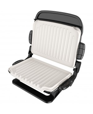 George Foreman 5-Serving Evolve Grill With Waffle Plates And Ceramic Grill Plates Black