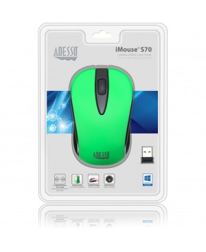 Adesso iMouse S70G - Wireless Optical Neon Mouse