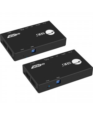 SIIG 4K HDR HDMI 2.0 HDBaseT Extender Over Single Cat5e/6 with RS-232 & IR - 100m