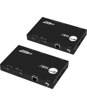 SIIG 4K HDR HDMI 2.0 & USB 2.0 Extender Over HDBaseT with RS-232 & IR