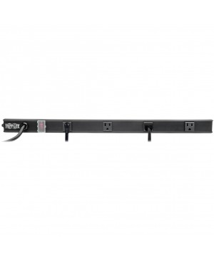 Tripp Lite Power Strip Right-Angle 5-15R 4 Outlet 6ft Cord 5-15P 24in Black