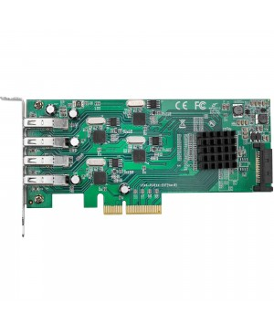 SIIG 4-Port SuperSpeed USB 3.0 PCIe Card - Quad Core