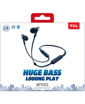 TCL Slate Blue Wireless In-ear Bluetooth Headphones with Mic - MTRO100BTBL