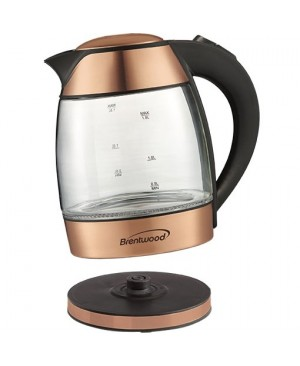 Brentwood 1.8 Liter Electric Glass Kettle with Tea Infuser (KT-1960RG)