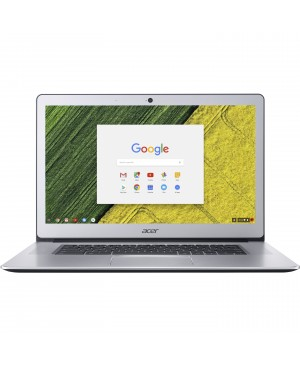 """Acer CB515-1HT-P6W6 15.6"""" Touchscreen LCD Chromebook - Intel Pentium N4200 Quad-core (4 Core) 1.10 GHz - 8 GB LPDDR4 - 64 GB Flash Memory - Chrome OS - 1920 x 1080 - In-plane Switching (IPS) Technology, CineCrystal - Pure Silver"""