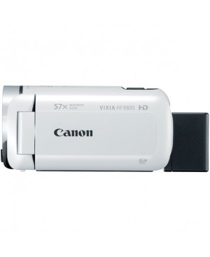 "Canon VIXIA HF R800 Digital Camcorder - 3"" - Touchscreen LCD - CMOS - Full HD - White"
