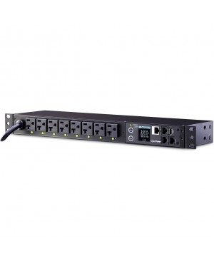 CyberPower PDU81002 Switched Metered-by-Outlet PDU, 100-120V, 20A, 8 Outlets (5-20R), 1U Rackmount