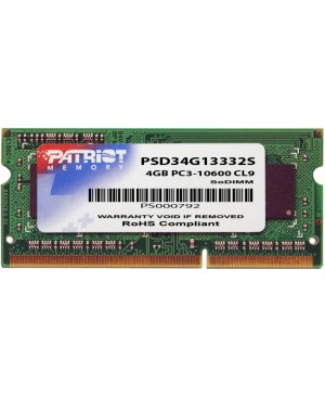 Patriot Memory 4GB PC3-10600 (1333MHz) SODIMM