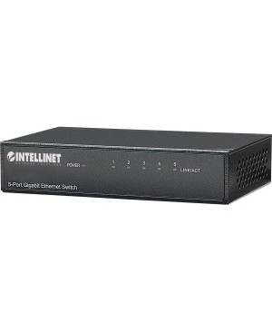 Intellinet Network Solutions 5-Port Gigabit Office Switch, Desktop, Metal Housing