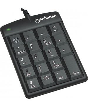 Manhattan USB Numeric Keypad with 18 Full-size keys