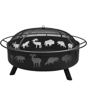 Landmann Super Sky Fire Pit Wildlife Black