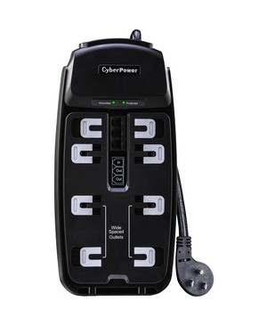 CyberPower CSP806T Professional 8-Outlets Surge Suppressor 6FT Cord and TE - Plain Brown Boxes
