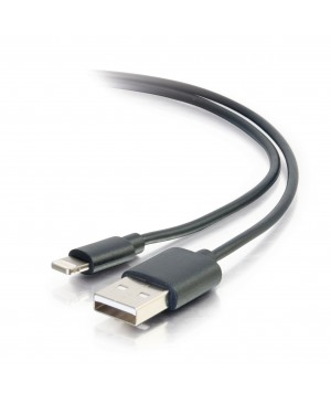 C2G 1m USB A to Lightning Cable - Charging Cable - iPhone Cable - 3ft Black