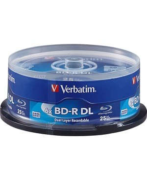 Verbatim BD-R DL 50GB 6X with Branded Surface - 25pk Spindle