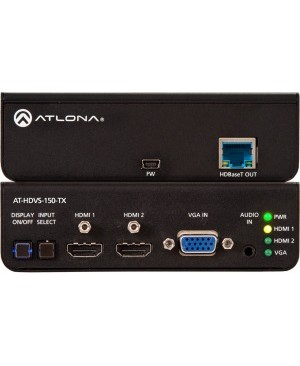 Atlona Three-Input Switcher for HDMI and VGA Sources with HDBaseT Output