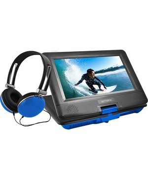 "Ematic EPD116 Portable DVD Player - 10"" Display - 1024 x 600 - Blue"