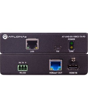 Atlona 4K/UHD HDBaseT Transmitter with Ethernet, Control and PoE