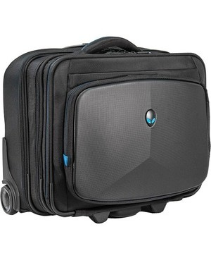 "Mobile Edge Carrying Case (Rolling Briefcase) for 17.3"" Notebook - Black, Teal"