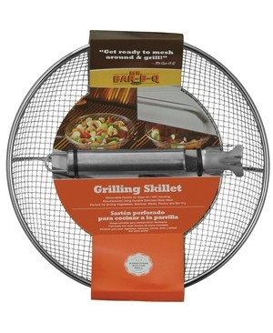 Mr. Bar.B.Q SS Mesh Skillet With Removable SS Handle