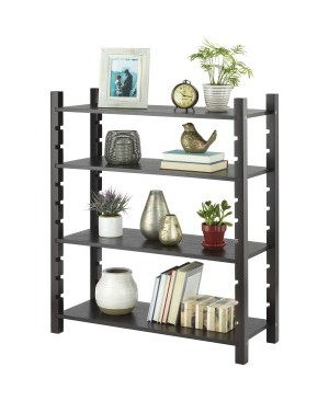 Whitmor Adjustable 4-tier Wood Shelving-Walnut