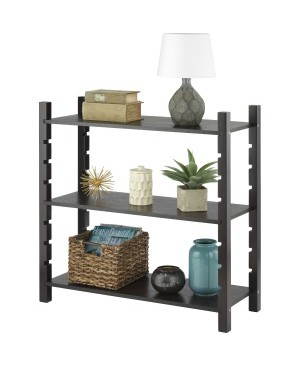 Whitmor Adjustable 3-tier Wood Shelving-Walnut