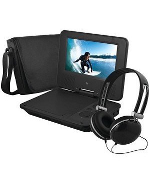 "Ematic EPD707BL Portable DVD Player - 7"" Display - 480 x 234 - Black"